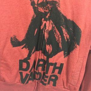 Disney Shirts - Star Wars Disney S Small Cardigan Hoodie Red Darth